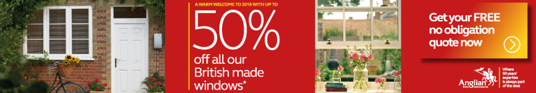 up to 50% off Anglian windows, click here to find out more