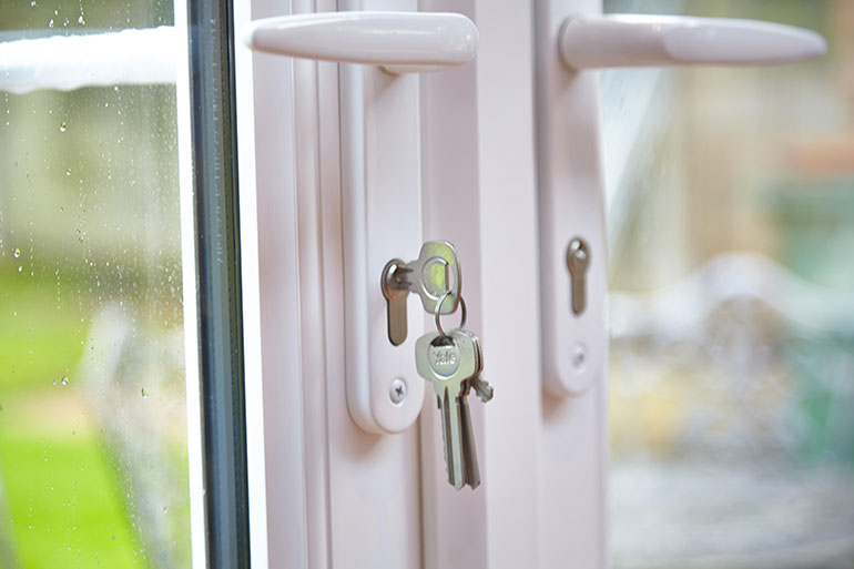 Patio doors and keys