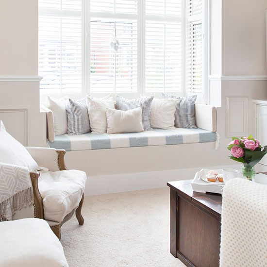 How to decorate bay windows good to be home for Buy bay window seat
