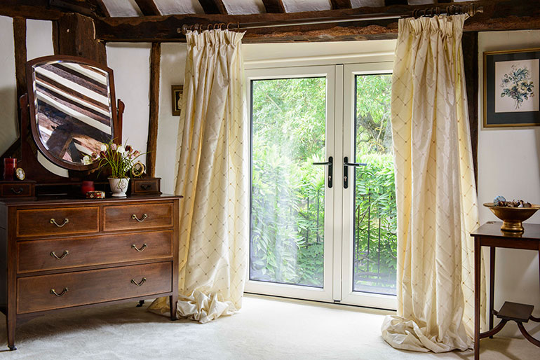 Anglian French doors in rustic home