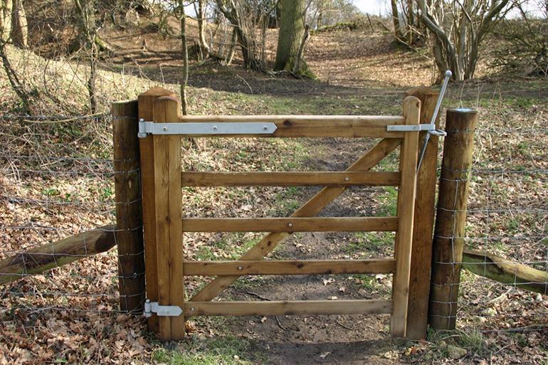 Gate leading to woodland