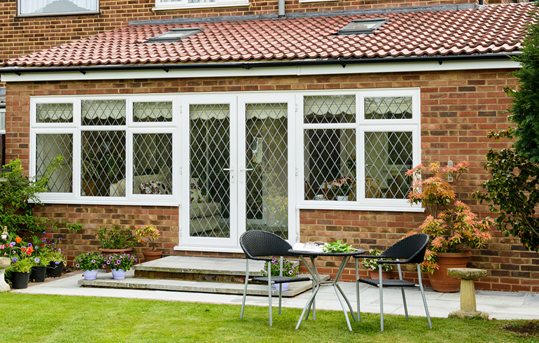 Extension with roof windows