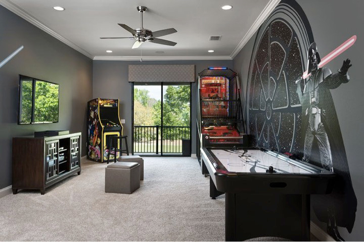 Awaken the force Star Wars game room