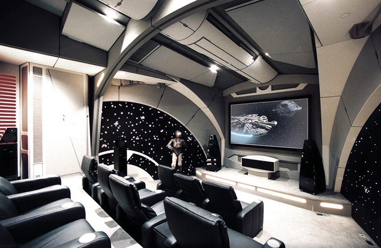 Death Star theatre room