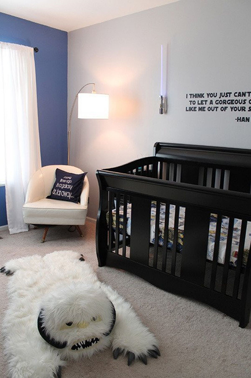 Geeky parents nursery Star Wars room