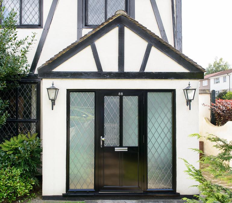 Black Anglian door