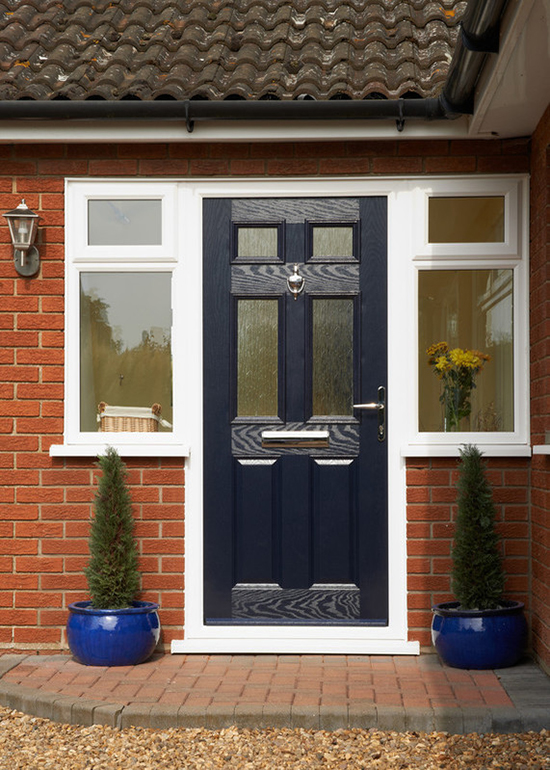 Dark blue Anglian door