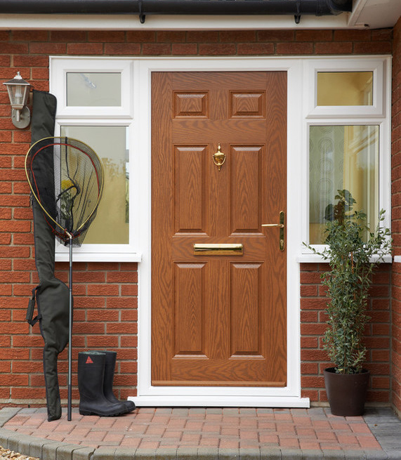 What the colour of your front door says about you good for Natural wood front door