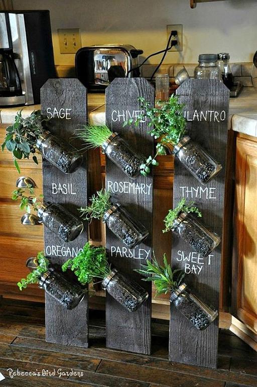 Chalkboard planters