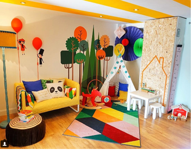 bright and colourful child's playroom