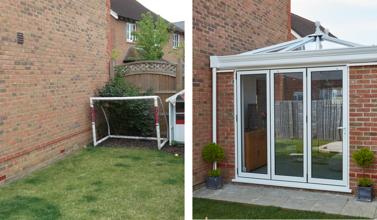#ProjectSpotlight: Orangery with bi-fold doors