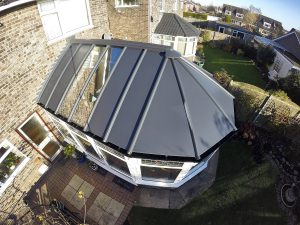 Solid panel roof replacement from above