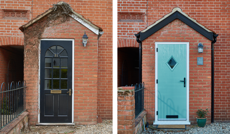 #ProjectSpotlight: Colourful front and back doors