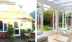 Veranda conservatory before and after