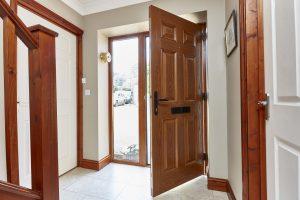 Golden oak interior door