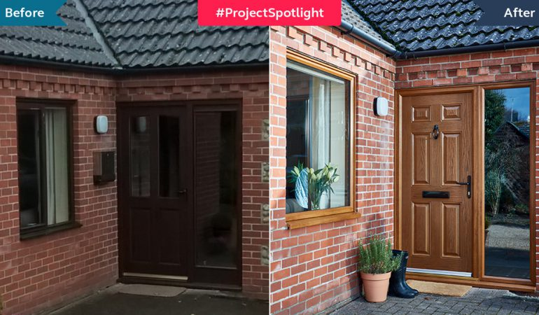 #ProjectSpotlight: Golden oak windows and doors