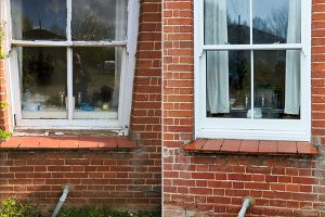Elite sliding sash before and after