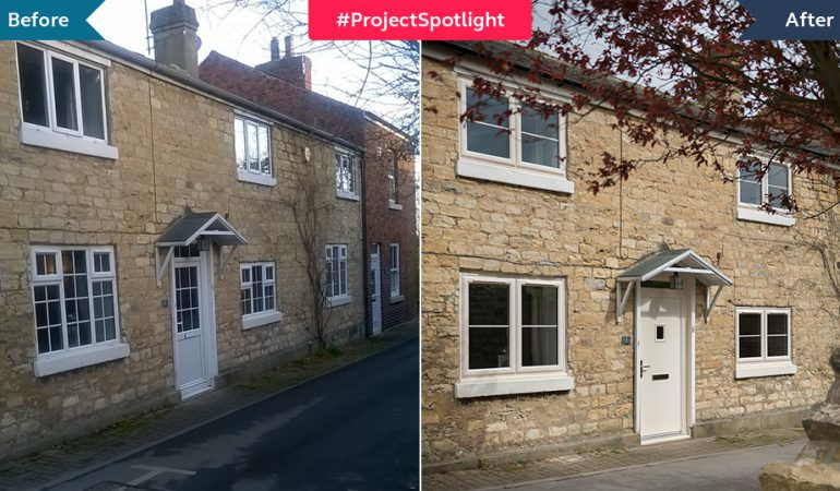 #ProjectSpotlight: uPVC cottage windows and a classic front door