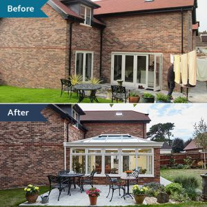 #ProjectSpotlight modern orangery before and after