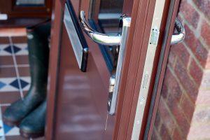 Aluminium porch interior and details