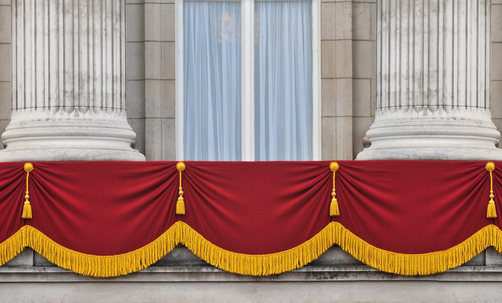 The Balcony doors at Buckingham Palace