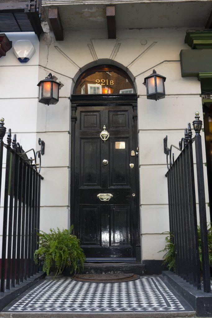 221b Baker Street front door to the home of Sherlock Holmes
