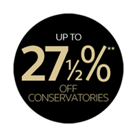 Up to 27½% off all conservatories, orangeries and extensions