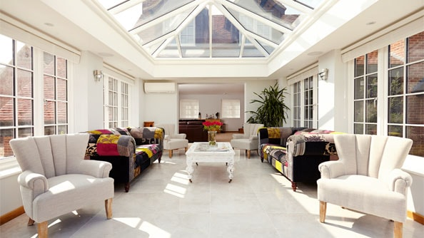 Stunning uPVC orangery in White Knight