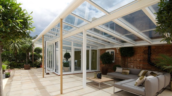 Striking veranda conservatory in White Knight uPVC