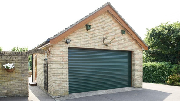 Anglian roller garage door in Fir Green