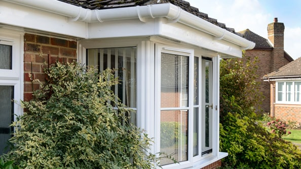 The perfect finish to any roofline, Anglian rooftrim in White Knight uPVC