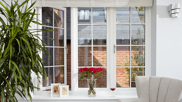 Beautiful cottage windows in White Knight uPVC