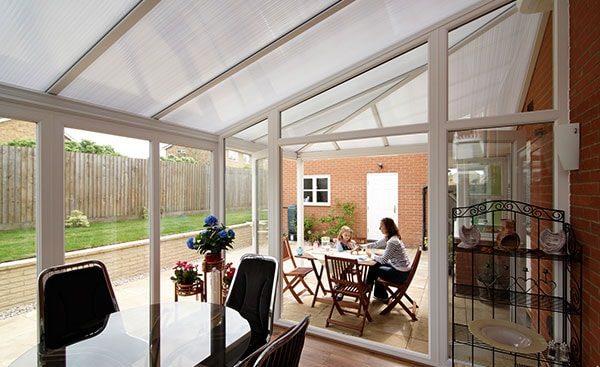 A White Knight uPVC Lean To conservatory