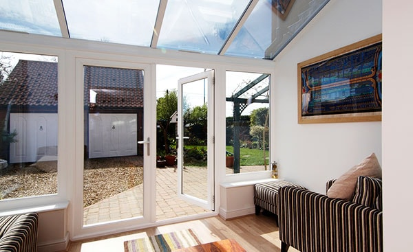 White Knight uPVC Lean To conservatory