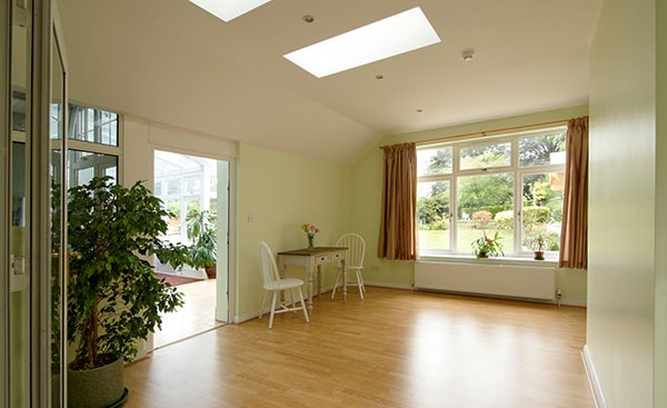 Internal view of house extension from Anglian Home Improvements
