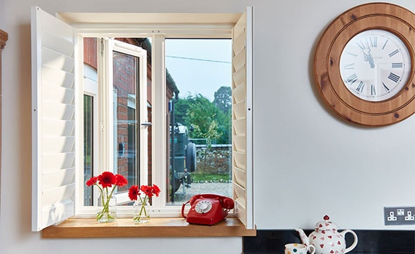cream uPVC casement window