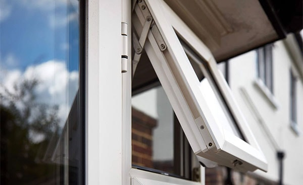 top hung casement window in white knight uPVC
