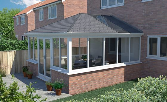 Conservatory roofing options anglian home for Home roofing options