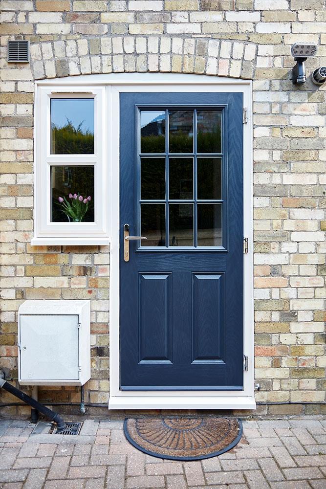 Classic GRP door in Steel Blue & Composite GRP doors gallery - ideas u0026 inspiration | Anglian Home