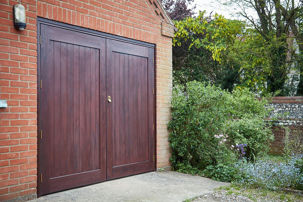 Grp side hinged garage doors anglian home for Home side door