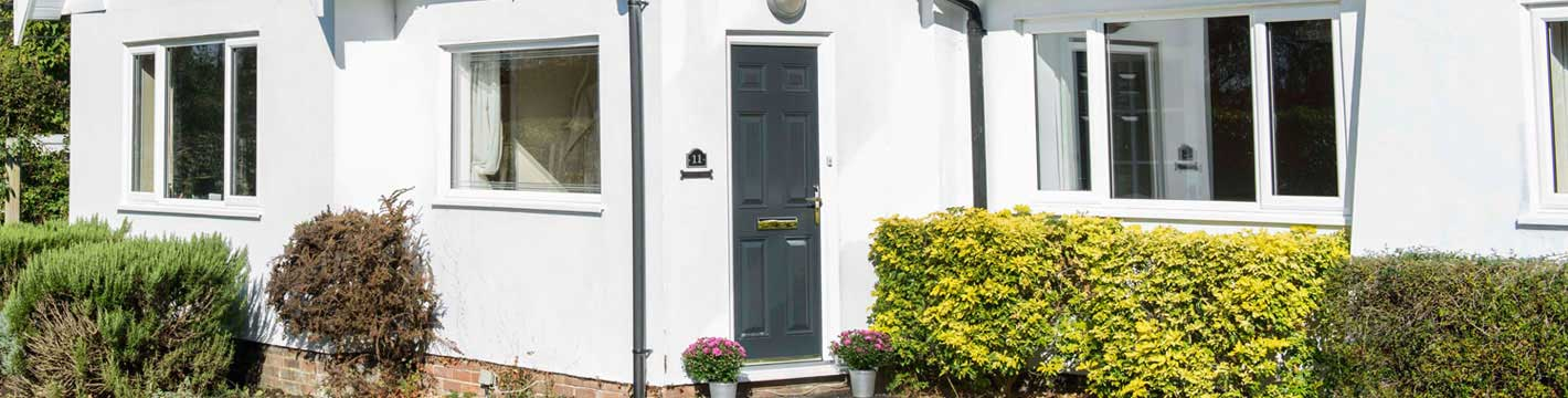 White Knight uPVC windows with a glorious GRP front door