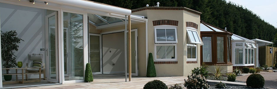 Clays Showsite with Orangeries and conservatories