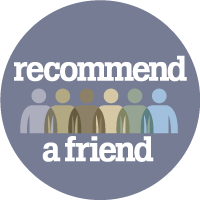 Recommend a friend logo