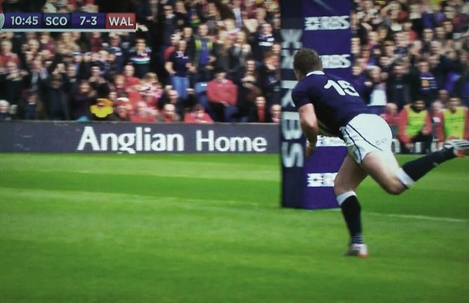 Anglian billboard at Scotland vs Wales Six Nations Rugby