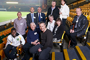 Anglian's long serving staff joined by NCFC's Neil Adams and Alex Tettey