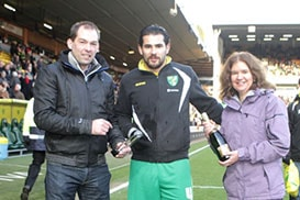 Brad Johnson was named the Anglian Home Improvements Player of the Month of December