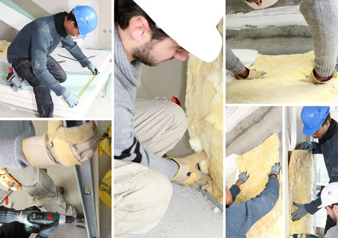 Collage of fitting insulation