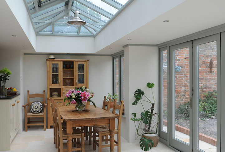 A beautiful contemporary Anglian orangery
