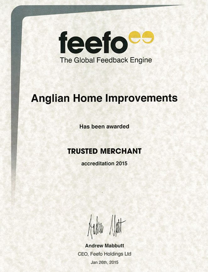 Feefo Trusted Merchant Certificate
