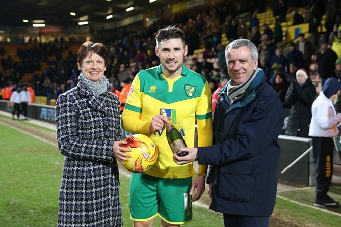 Gary Hooper was the Anglian Man of the Match against Blackpool